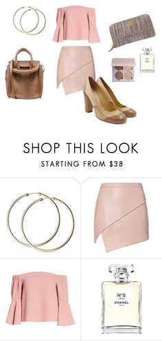 """""""Pink Vibes & Hoop Earrings"""" by alexissuitcase on Polyvore featuring Michelle Mason, Topshop, Miu Miu, Alexander McQueen, Prada and Chanel"""