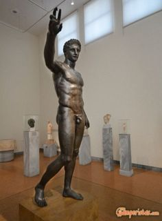 If your time is limited or if you plan to visit only one museum during your stay in Athens, it's quite probable that this once-venerable museum will not be your first choice. It would be a pity, though, to miss it. Greece, Statue, Museum, Greece Country, Sculptures, Sculpture