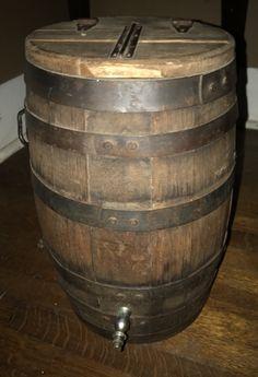 An 1890's - early 1900's Oak Water Barrell