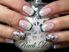 It`s all about nails: Step by Step New Year`s decoration http://radi-d.blogspot.com/2012/12/step-by-step-new-years-decoration.html