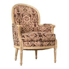 Rarely do we find vintage French Louis XVI chairs with original paint that are as comfortable as this one. It is in very nice original condition and has great style and aesthetics. Antique Chairs For Sale, Vintage Chairs, Antique Furniture, Bergere Chair, Armchair, Flooring Sale, Beautiful Sofas, Louis Xvi, Club Chairs