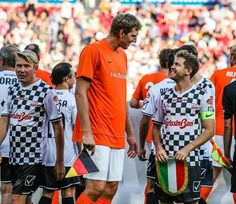 Sebastian Vettel with Dirk Nowitzki, during the 'Champions for charity' football match in honor of Micheal Schumacher, at Opel Arena in Mainz, Germany today :)  Some match highlights - https://www.youtube.com/watch?v=9RUHas8ReSc __________  Instagram - instagram.com/fansofsebvettel Twitter - twitter.com/FansOfSebVettel YouTube - youtube.com/c/FansOfSebVettel