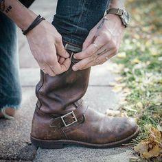 13 Best Biker boots images   Biker boots, Boots, Engineer boots