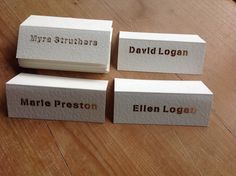 Laser cut personalised place cards available from notonthehighstreet and www.sweetpeadesign.co.uk #placecards #wedding