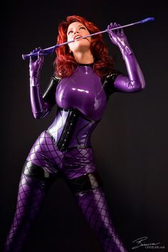Purple Bianca Beauchamp …. more in her wbeiste : www.latexlair.com