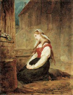 Ary Scheffer gretchen in gebed voor het beeld van de moeder van smarten Fiction, Museum, Romantic, Landscape, Portrait, Artwork, Van, Painting, Google