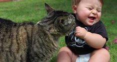 Cat Playing With Child..