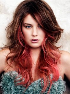 Items similar to Red Ombre Hair Chalk - Salon Grade - High Impact - 2 Reds Terracotta and Apricot - Boho Ombre Pastel for Hair on Etsy Cabelo Ombre Hair, Red Ombre Hair, Hair Color Pink, Hair Colors, Ombre Brown, Ombre Color, Ombre Style, Coral Hair, Ombre Wigs