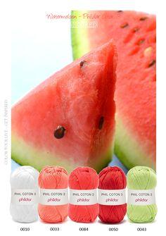 Kleurinspiratie - watermeloen Phildar coton 3