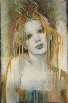 Penelope by Joan Dumouchel - Contemporary Artist - Figurative Painting Drip Painting, Figure Painting, Painting & Drawing, Abstract Portrait, Portrait Art, Art Moderne, Face Art, Contemporary Artists, Modern Contemporary