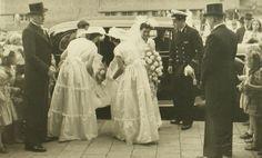 Marriage Herman Luiken and Corry Bak, Stadsarchief 's-Hertogenbosch, CC BY-SA Wedding Ceremony, Marriage, 1940s, Brides, Valentines Day Weddings, Wedding Bride, Bridal, Weddings, Mariage