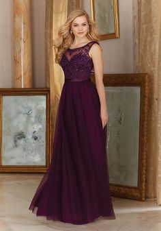 Stunning Tulle with Embroidery and Satin Waistband Bridesmaid Dress Designed by Madeline Gardner