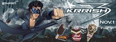Krrish 3 Range of Havmor Ice Creams #Krrish3 #icecream #redvelvet #chocoblock #blockbuster