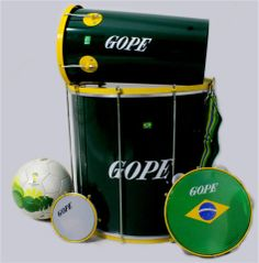 #Gope lanza el Kit Copa, una edición limitada con los colores de la bandera de #Brasil, para conmemorar el Mundial de Fútbol 2014 #percusion #pandeiro #surdo