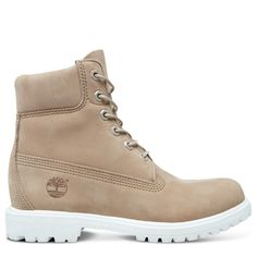 Shop Women& Timberland& Icon Premium Boot today at Timberland. The official Timberland online store. Timberland Boots Outfit, Timberlands Women, Leather Collar, Leather Boots, Timbaland Boots, Timberland Waterproof Boots, Yellow Boots, Shoe Company, Beige