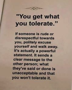 Quotes Sayings and Affirmations Don't tolerate it! Quotable Quotes, Wisdom Quotes, True Quotes, Motivational Quotes, Inspirational Quotes, Worth Quotes, Meaningful Quotes, Happiness Quotes, Quotes Quotes