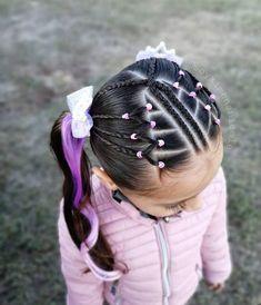 """🌈 𝑷𝒆𝒊𝒏𝒂𝒅𝒐𝒔 𝒑𝒂𝒓𝒂 𝒏𝒊𝒏̃𝒂𝒔 ⭐ en Instagram: """"🌺 hola chicas 🌺 El día de hoy les compartimos este lindo estilo lindo y fácil de realizar 🙌 con este estilo nos unimos para felicitar a…"""" Cute Little Girl Hairstyles, Cute Girls Hairstyles, Kids Braided Hairstyles, Great Hairstyles, Girl Hair Dos, Hair Due, Chocolate Hair, Braids For Kids, Toddler Hair"""