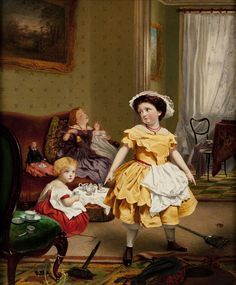 Sophie Anderson (French, 1823-1903) My Turn to play Mother!