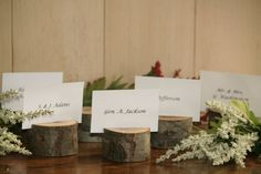 20 Rustic Place Card Holder Escort Card Holder by TheHeritageTree