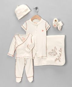Take a look at this Ivory Organic Layette Set by B nature on #zulily today! Reg $126 now $55.99