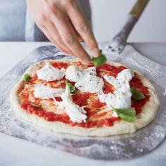 Margherita Pizza with Tomato, Mozzarella and Basil via Delish