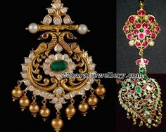 Latest Collection of best Indian Jewellery Designs. Pendant Design, Pendant Set, Gold Pendant, Indian Jewellery Design, Indian Jewelry, Jewellery Designs, Wedding Jewelry, Lockets, Brooch