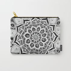 Mandala Tropique Carry-All Pouch by laurafrere Graphic, Carry On, Pouch, Patterns, Stuff To Buy, Bags, Mandalas, Pattern, Block Prints