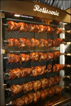 Wow!  Beautiful rotisserie chicken display from Turlock USD in California.