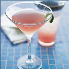 Sunrise cocktail with Van Gogh Pineapple Vodka, Van Gogh Coconut Vodka, pineapple juice and a splash of grenadine.