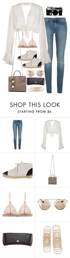 """Untitled#4147"" by fashionnfacts ❤ liked on Polyvore featuring Yves Saint Laurent, Mes Demoiselles..., Chanel, Nikon, Christian Dior, H&M and Forever 21"