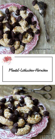 Mandel-Lebkuchen-Hörnchen |  Weihnachtsbäckerei | Rezept | Backen | Plätzchen