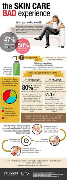 Bad skincare- reactions, allergies, etc. #AcneAndOilySkin