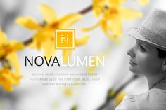 Novalumen – a multipurpose WordPress theme suitable for portfolios, blogs, and online stores