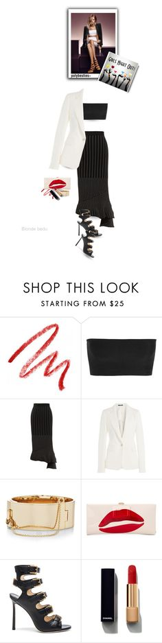 """That's a terrible idea... What time?"" by blonde-bedu ❤ liked on Polyvore featuring Jimmy Choo, Kevyn Aucoin, Balmain, Jonathan Simkhai, Maison Margiela, Eddie Borgo, Roger Vivier and Chanel"