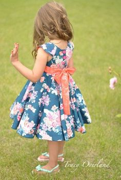 Create Kids Couture - Frenchy's Fifties Flair Dress and Peplum PDF Pattern, $8.00 (http://createkidscouture.com/frenchys-girls.html)