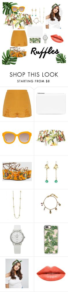 """""""Tropical vibe"""" by nathifadorable ❤ liked on Polyvore featuring Maison Margiela, Alice + Olivia, Isolda, Gucci, Riverlight, Marc by Marc Jacobs, OMEGA, Casetify, ASOS and Ardency Inn"""