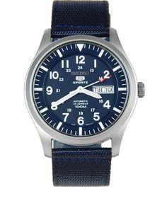 Seiko 5 Sport SNZG11 Automatic Navy Blue Canvas Men's Watch