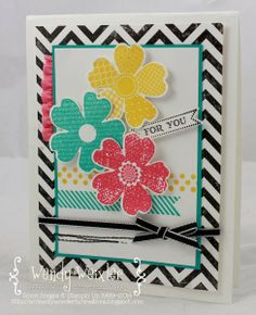 For You Card using Flower Shop stamp set, Fab Friday