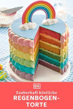 3rd Birthday Cakes, Rainbow Birthday Party, Beautiful Cakes, Amazing Cakes, Kreative Desserts, Rainbow Food, Cute Cakes, Celebration Cakes, Cupcake Cookies
