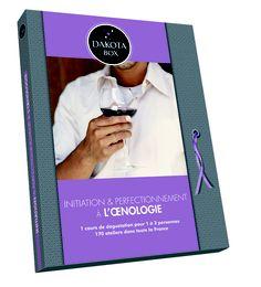 INITIATION A L'OENOLOGIE 59.90€ - 170 ateliers. Dans l'ambiance d'un hôtel 4 étoiles, d'une boutique ou d'une cave parisienne, profitez d'ateliers d'initiation, de perfectionnement, ou de dégustations thématiques, aux côtés d'un œnologue.    Plus d'informations sur ce coffret : http://www.dakotabox.fr/gastronomie/initiation-et-perfectionnement-a-l-oenologie.html