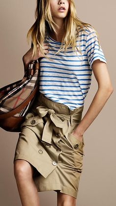 Tee + Trench Skirt - love the idea to cut a trench to make a skirt !
