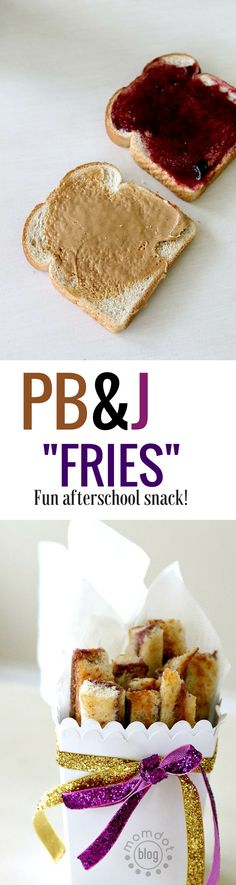 """PB&J """"fries"""" an afterschool snack idea that is fun, quick and easy!"""