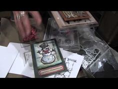 Tim Holtz at Sizzix - Stamp & Die Combos - CHA Summer 2013 - YouTube - Using Magnetic platform in Vagabond