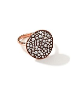 P7887 Ippolita 18K Rose Gold Glamazon Stardust Flower Ring with Diamonds (1.8 ct)