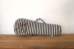 Sopran Ukulele-Tasche Black And White stripe Ukelele von cherijame