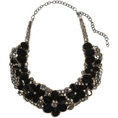 Valentino Crystal-embellished tulle and satin bib necklace (£440) found on Polyvore
