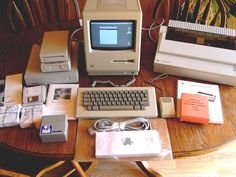 collectable #vintage #apple #macintosh 512k computer system in original boxes from $1495.0