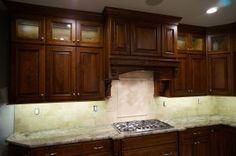 Home - Prestige Custom Cabinetry Stained Kitchen Cabinets, Refinish Kitchen Cabinets, Cabinet Refinishing, Stone Backsplash, Contractors License, Dark Stains, Custom Cabinetry, The Prestige, Entertainment Center