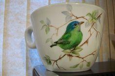 Green bird teacup!
