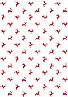 FREE printable reindeer pattern paper | Christmas
